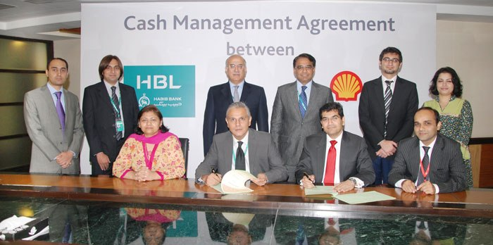 HBL and Shell Pakistan Sign Cash Management Agreement